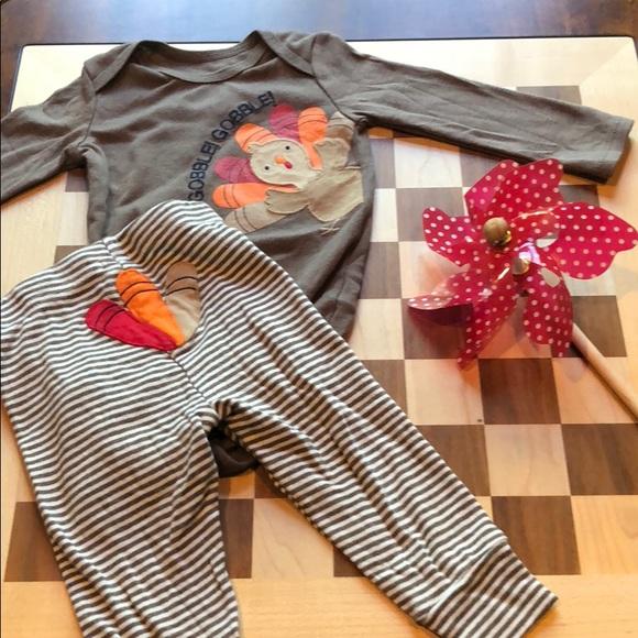1e44e9b5f Carter's Matching Sets | 12 Month Baby Boy Thanksgiving Turkey ...